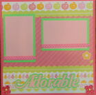12X12 ADORABLE GIRL PREMADE SCRAPBOOK PAGE LAYOUT MSND TONYA