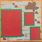 12X12 3RD GRADE BOY GIRL PREMADE SCRAPBOOK PAGE LAYOUT MSND TONYA