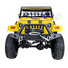X Rock Crawler Front Bumper+Winch Plate+2x LED Light for 97 06 Jeep Wrangler TJ