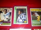 CHARGERS Kellen Winslow ROOKIE(6)Cards~Natrone MEANS Tri-Fold~Fred Dean RC~NICE!