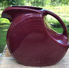 Fiestaware Cinnabar Large Disc Pitcher Fiesta Maroon Disk Pitcher 68 ounce