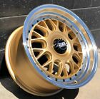 GL17x85 +20 5x1143 ESM 004M Wheels Rims Gold Honda civic Acura Subaru