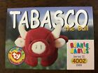 TY Beanie Baby BBOC Card ~Series 2 Common ~TOBASCO the Bull ~Mint