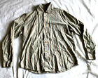 Armani Jeans Casual Button Down Long Sleeve Mens Size XL Striped VTG Multi Color