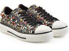 NWOB Valentino Rolling Rockstud Painted Leather Sneakers 37 Tribal Embellished
