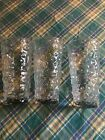 3 Large 30 Ounce Anchor Hocking Milano Clear Glasses