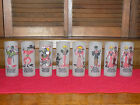 8 Vintage Federal Glass Co Frosted