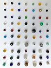 Lot of 70 antique/vintage glass ball buttons 7/16