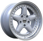 ESM 005R Silver 17x85 4x100 +20 BMW E30 84 91 325i 325is 318i 318is 325es