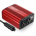 Poweradd 300W Car Power Inverter DC 12V to AC 110V Converter with Dual 3.1A D...