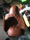 Mustang 76706 Diamond Brown Wide Tripper Solo Seat for 06 14 Harley Dyna Glide