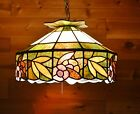 Antique Vintage Leaded Glass Mosaic Shade Tiffany Style Slag Glass Arts Crafts