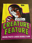 CREATURE FEATURE TRADING CARD EMPTY DISPLAY BOX TOPPS 1980