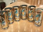 Gold High Ball Tumbler Glasses Set of 6
