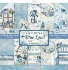 Stamperia Double Sided Paper Pad 12X12 10 Pkg Blue Land 10 Designs 1 Each
