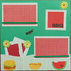 12X12 BBQ PICNIC PREMADE SCRAPBOOK PAGE LAYOUT MSND TONYA