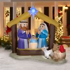Lighted Christmas Nativity Inflatable Display Outdoor Holy Holiday Lawn Decor