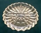 Vintage Indiana Glass Clear Wedge Cut 7