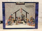 Kirkland Nativity Jesus Christ Birth Porciline Wood Set Christmas Decoration