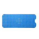 SlipX Solutions Blue Extra Long Bath Mat Adds Non-Slip Traction to Tubs