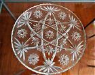 Star of David Pattern Vintage Pressed Glass Platter 13 1/2