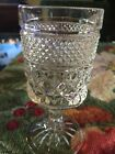 Vintage Clear Pressed Glass Stemware Set Of 4. Wine Or Cordial Glasses Drinkware
