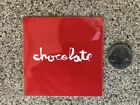 NEW VINTAGE RARE CHOCOLATE SKATEBOARD SKATE STICKER COLLECTORS EDITION 3 X 3