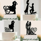 Acrylic Bride Groom Wedding Cake Topper Mr  MRS Engagement Party Cake Decor