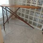 Antique Vintage Very Primitive Folding Wood and Metal  Ironing Board Farmhouse