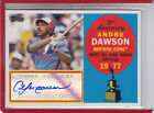 2008 TOPPS ALL ROOKIE TEAM 50TH ANNIVERSARY ANDRE DAWSON 25 AUTOGRAPH AUTO