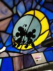 DISNEY MICKEY MINNIE STAINED GLASS TIFFANY LAMP LE