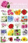 40 Flowers Stickers For Scrapbooking or Envelopes Vibrant Bright Beautiful