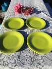 FIESTA 4 NEW LEMON GRASS lime green DINNER PLATES 10-1/2