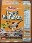 Kelloggs Frosted Mini Wheats Empty Cereal Box +Nickelodeon Magnetic Target Game
