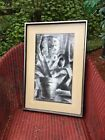 BARRY ORIGINAL SIGNED VINTAGE MID CENTURY  ABSTRACT MODERNIST LITHOGRAPH