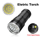 Hunting Lamp XM-T6 LED Tactical Flashligt Eletric 4X18650 Torch Digital Display