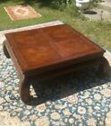 Vintage HENREDON Ming Asian Style Wood COFFEE TABLE Inlaid Top Artefact