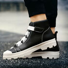 Mens Athletic High Top Sneakers Casual Sports Shoes Trend Trainers Breathable
