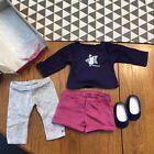 AMERICAN GIRL DOLL COCONUT FUN OUTFIT NIB SHORTS LRGGINGS SHOES TOP HEADBAND