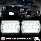 Projector 5X7 LED Headlight Replacement for Jeep Cherokee XJ YJ Sealed Beam DRL