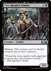 TWO HEADED ZOMBIE 4x PLAYSET MTG Core 2019 M19 Magic Cards