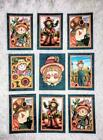 Set of 9 Cards Autumn Fall Scarecrows Greeting Card Toppers Card Making 140N