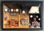 VINTAGE HAND CARVED DIORAMA ITALIAN MADE BY ANRI KITCHEN lighted (not working)