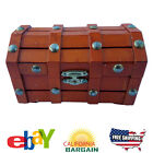 Small Wooden Treasure Chest Box - Light Brown Color - View Details