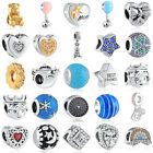 NEWEST European 925 sterling gold silver charms bead for bracelet necklace chain