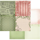 Vintage Rose Garden Double Sided Paper 12X12 Florals  Time 4up 10 Pack