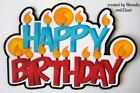 Birthday Candles boy paper piecing title scrapbook pages by Rhonda rm613art