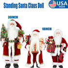 18 36 Santa Claus Doll Home Decor Standing Father Christmas Figure Ornament US