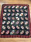 Estate Found Antique Hand Stitched Embroidered Crazy Quilt Top