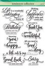 Sentiment Collection Clear Unmounted Rubber Stamp Set PENNY BLACK NEW 30 350